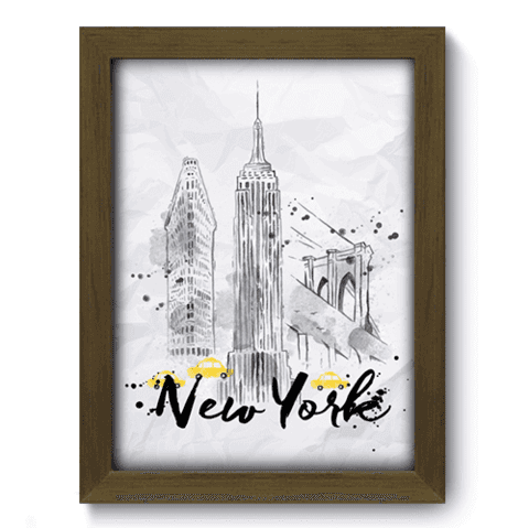 Quadro Decorativo - New York - 139qdmm