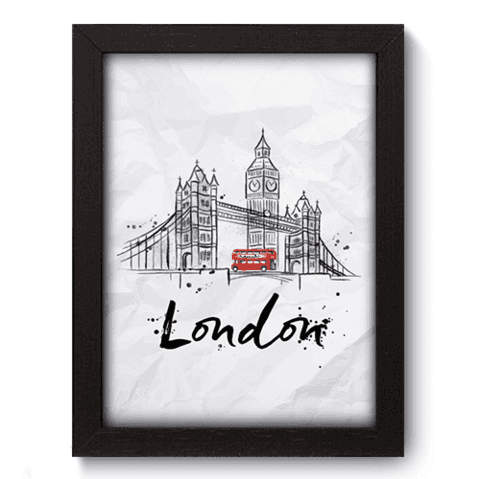 Quadro Decorativo - Londres - 141qdmp