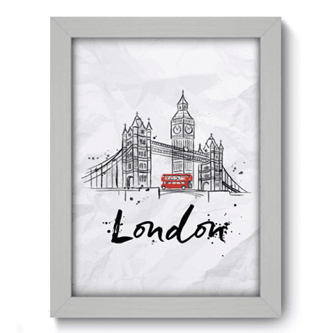 Quadro Decorativo - Londres - 141qdmb