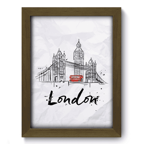 Quadro Decorativo - Londres - 141qdmm