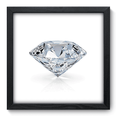 Quadro Decorativo - Diamante - 144qddp