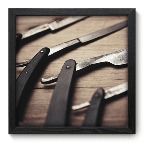 Quadro Decorativo - Barbearia - 151qddp