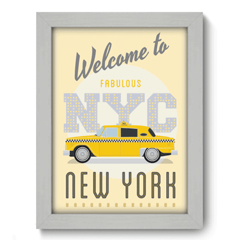 Quadro Decorativo - New York - 164qdmb
