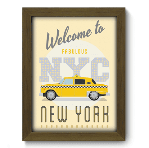 Quadro Decorativo - New York - 164qdmm