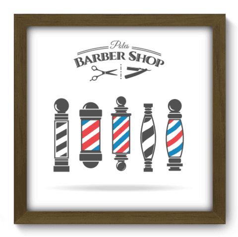 Quadro Decorativo - Barbearia - 178qddm