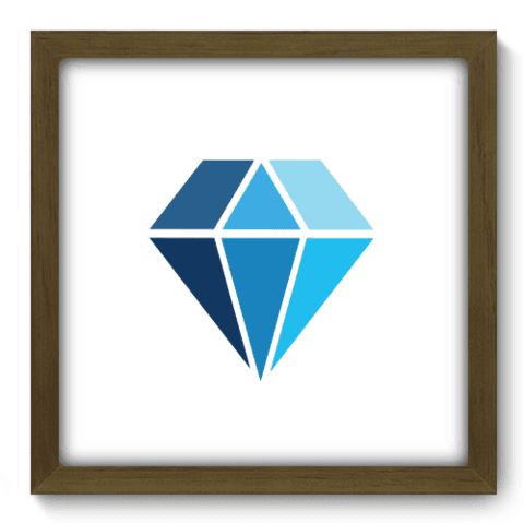 Quadro Decorativo - Diamante - 180qddm