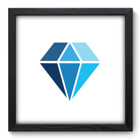 Quadro Decorativo - Diamante - 180qddp