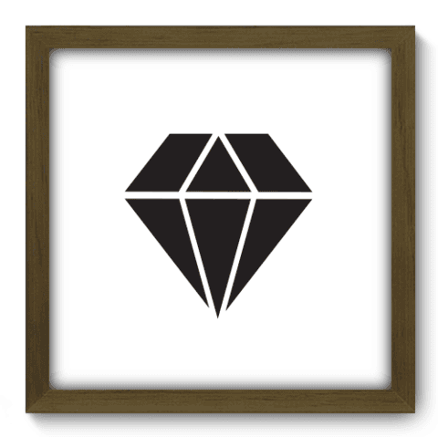 Quadro Decorativo - Diamante - 181qddm