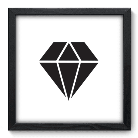 Quadro Decorativo - Diamante - 181qddp