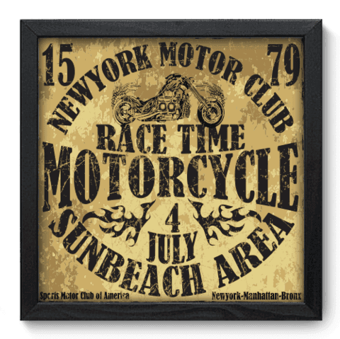 Quadro Decorativo - Motorcycle - 186qddp