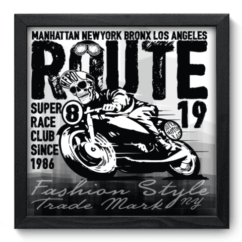 Quadro Decorativo - Motorcycle - 187qddp