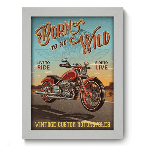 Quadro Decorativo - Motorcycle - 199qddb