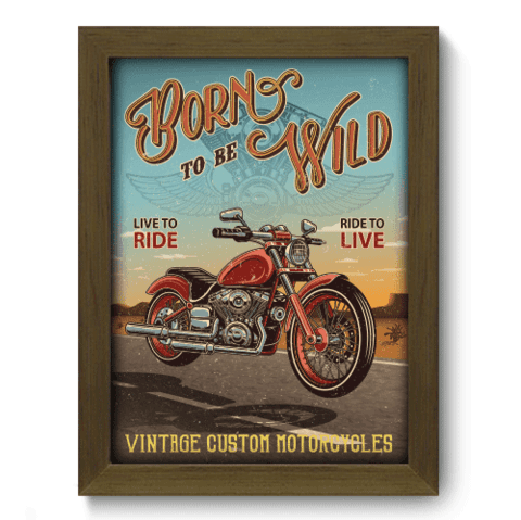 Quadro Decorativo - Motorcycle - 199qddm