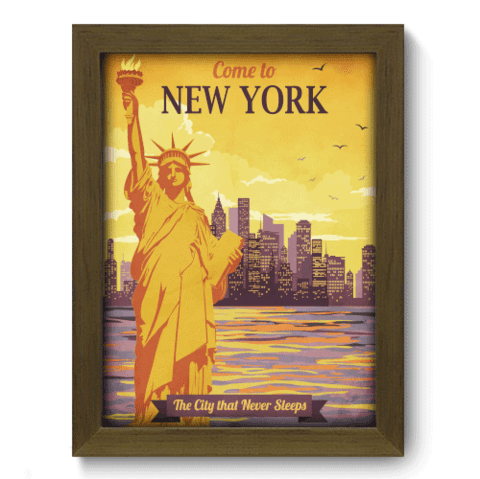 Quadro Decorativo - New York - 203qdmm