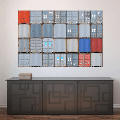 Painel Adesivo de Parede - Containers - 465pn