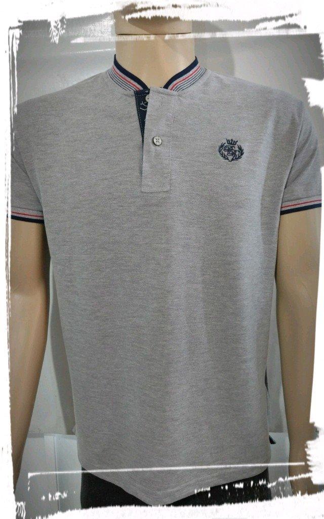 Camisa Polo Masculina M (Gola de Padre) - Perfil Baron 19d17fe9640f6