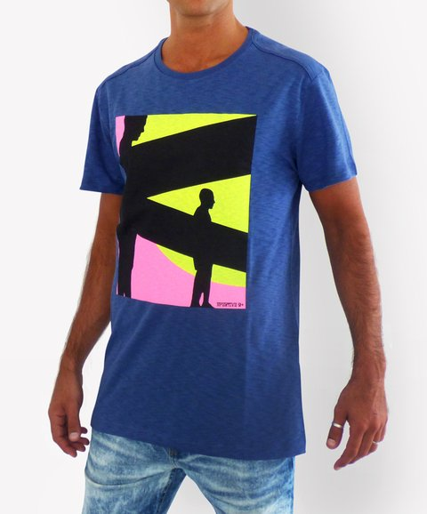 Remera Cancun LUCES Azul
