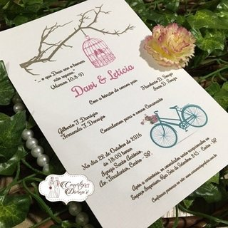 Convite Para Casamento Bodas Noivado
