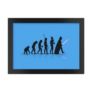 Quadro Geek Evolution Star Wars Azul