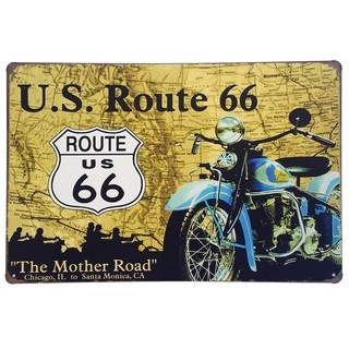 Placa de Metal Decorativa U.S. Route 66