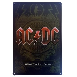 Placa de Metal AC/DC Black Ice