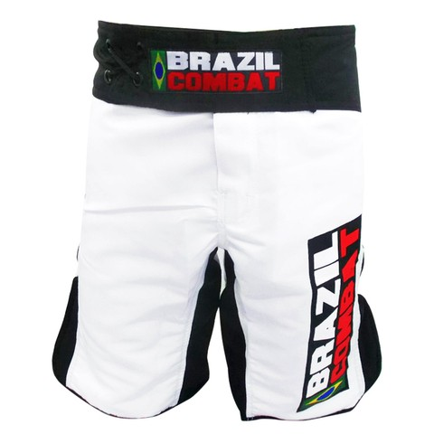 Grappling Short Branco e Preto