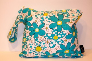 Daisies and Dots - Turquoise Blue