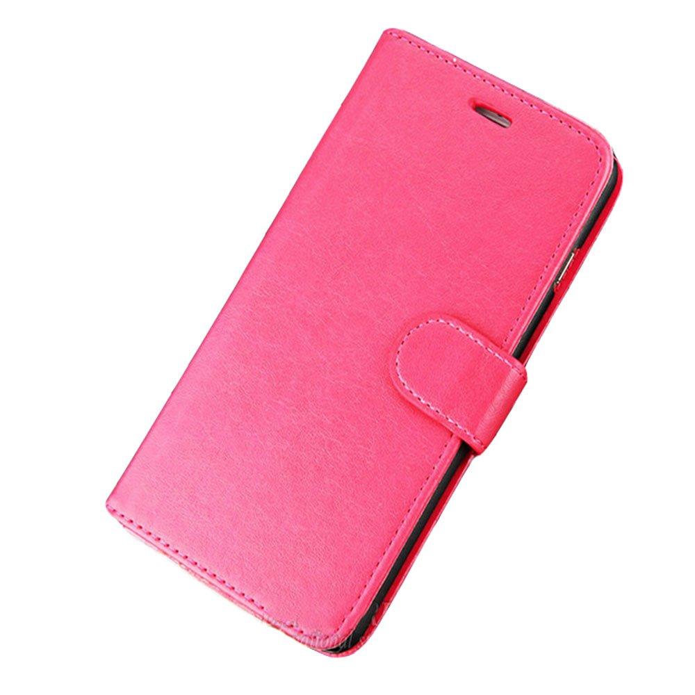 Carteira de Couro Rosa para iPhone 5 / 5C / 5S