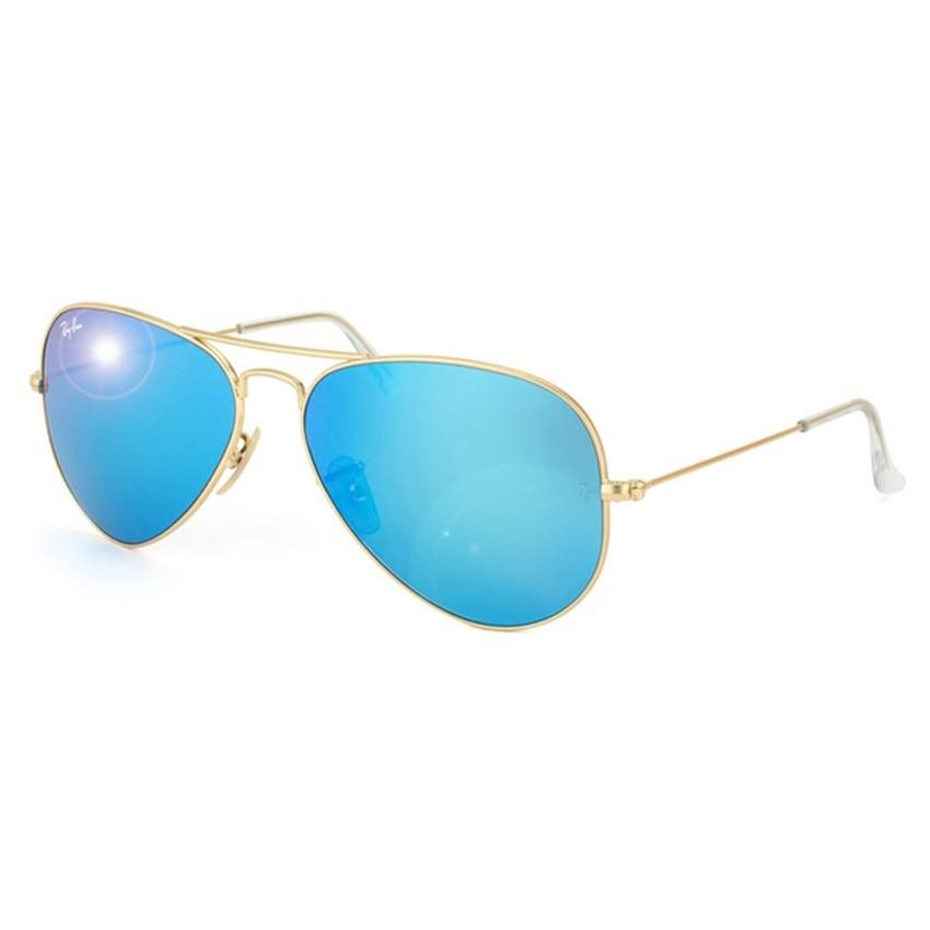 ray ban aviator lente azul degrade