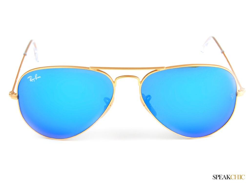 ray ban aviador azul espejo