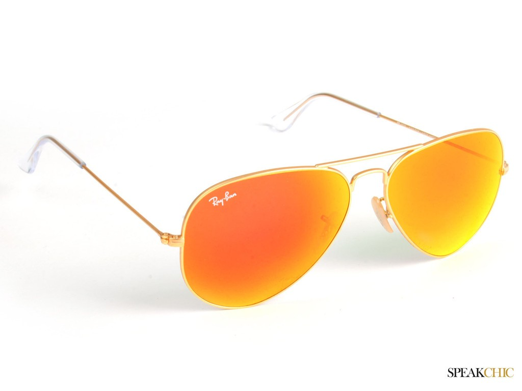 ray ban aviator color naranja