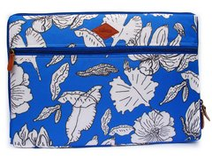 Funda Notebook Flores Azul