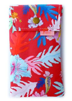 Funda Con Broche Flor China Tomate