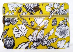 Funda Notebook/Maletin Flor Lineal Amarillo