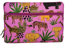 Funda Notebook Animales Violeta