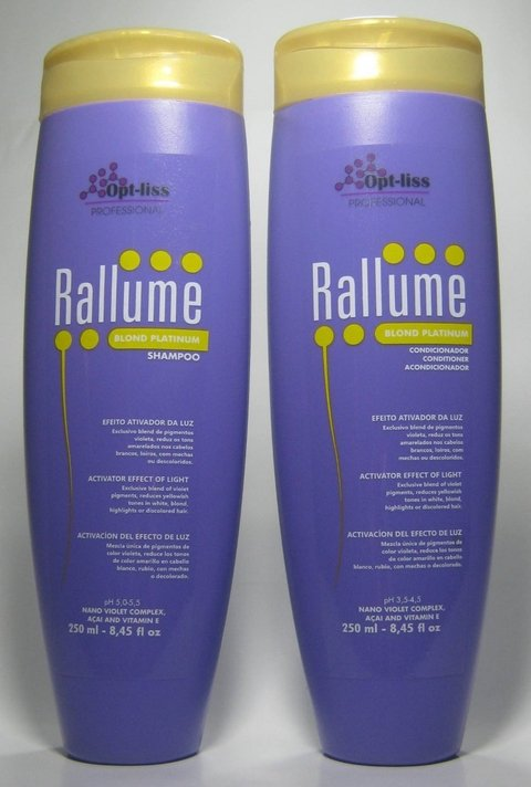 RALLUME BLOND - KIT HOME CARE - MATIZADOR - 2X250ML