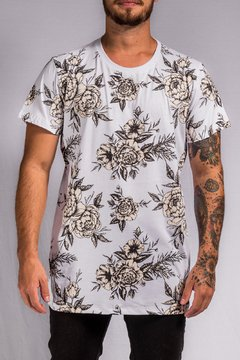 T SHIRT FLOWERS (CREME)