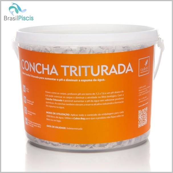 CONCHA TRITURADA 3KG ( 2,2 LITROS ) - LAGOS E PISCINAS