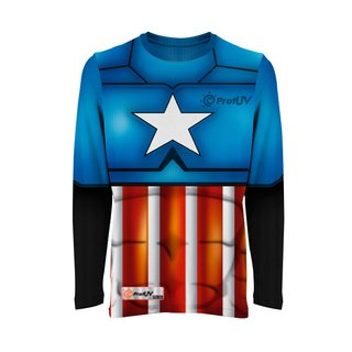 Camisas UV Infantil Super-Heróis CA