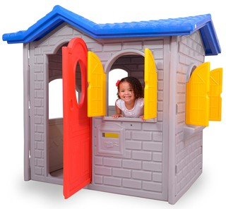 Casa de Brinquedo Tropical para play ground cinza