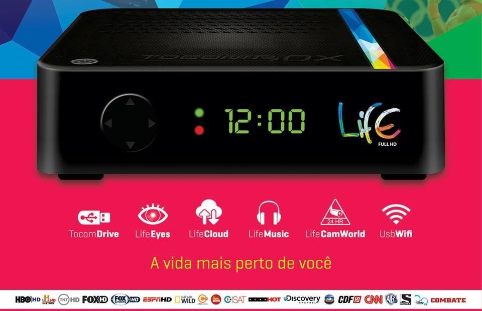 TOCOMBOX LIFE HD NOVA ATUALIZAÇÃO V4.51 - 10/09/2016