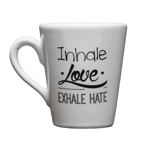 Taza Inhale Love Exhale Hate