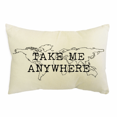 Almohadon Rustico Take me Anywhere