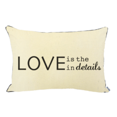 Almohadon Rustico Love is in the details - comprar online