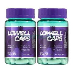 Lowell Caps Kit 2x Crescimento Capilar 30 Caps