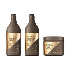 Kit Lowell Protect Care Shampoo E Condicionador 1litro Cada + Máscara 450g