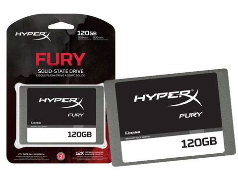 SSD GAMER HYPERX SHFS37A/120G FURY 120GB 2.5