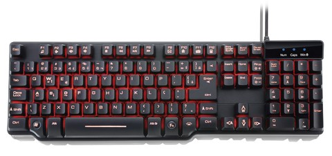 Teclado Semi Mecanico Warrior Multilaser