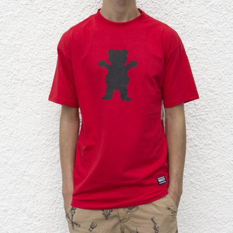 CAMISETA GRIZZLY OG BEAR LOGO RED - comprar online
