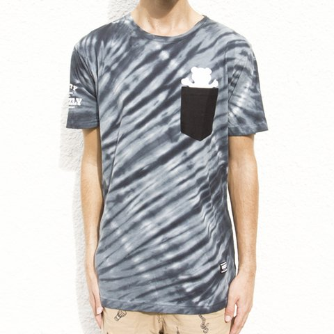 CAMISETA GRIZZLY TIE-DYE POCKET BLACK - comprar online
